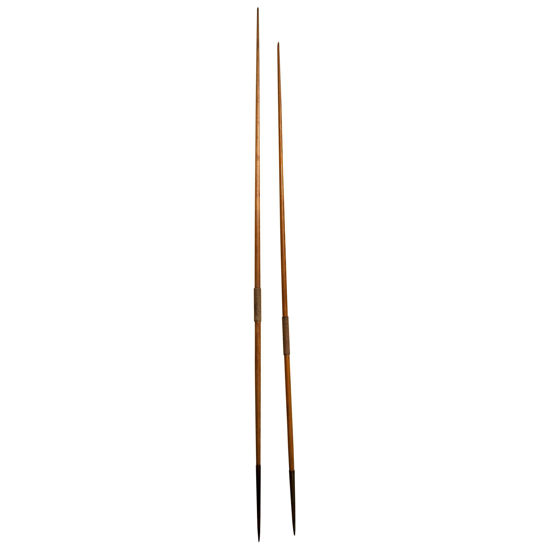 Pair of Wooden Javelins from Karhu, 1950s
