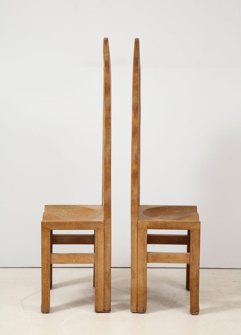 Pair of Wooden Replicas of the Stone Throne from the Minoan Palace at Knossos For Sale 3