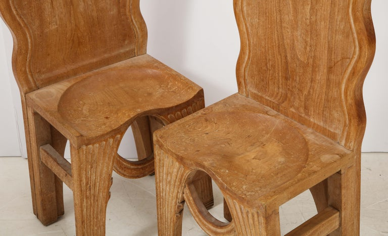 Pair of Wooden Replicas of the Stone Throne from the Minoan Palace at Knossos For Sale 4
