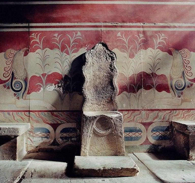 Pair of Wooden Replicas of the Stone Throne from the Minoan Palace at Knossos For Sale 5