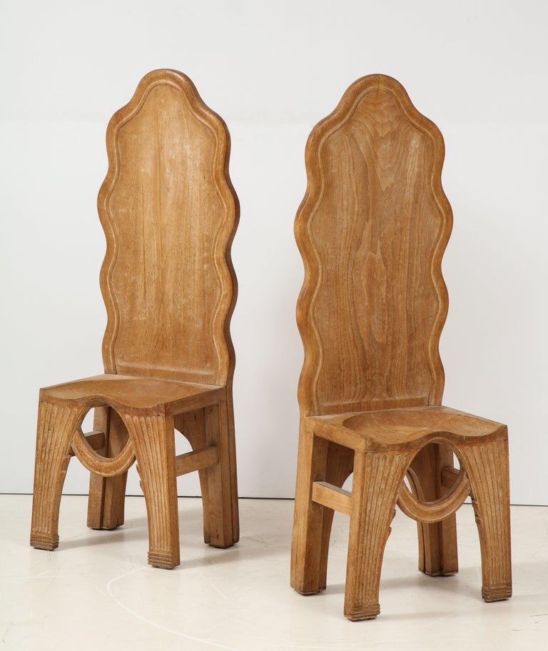 Other Pair of Wooden Replicas of the Stone Throne from the Minoan Palace at Knossos For Sale