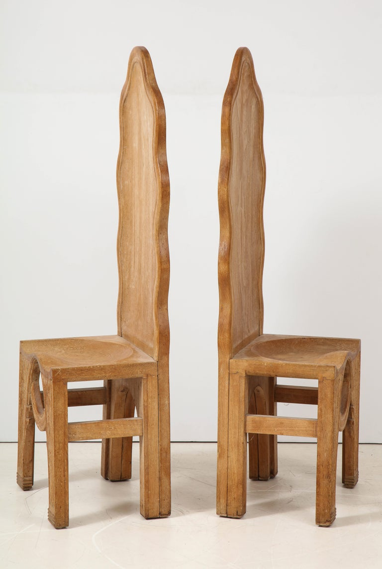 Carved Pair of Wooden Replicas of the Stone Throne from the Minoan Palace at Knossos For Sale