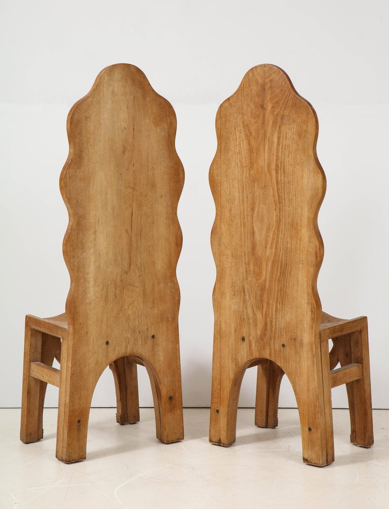 Pair of Wooden Replicas of the Stone Throne from the Minoan Palace at Knossos In Good Condition For Sale In New York, NY