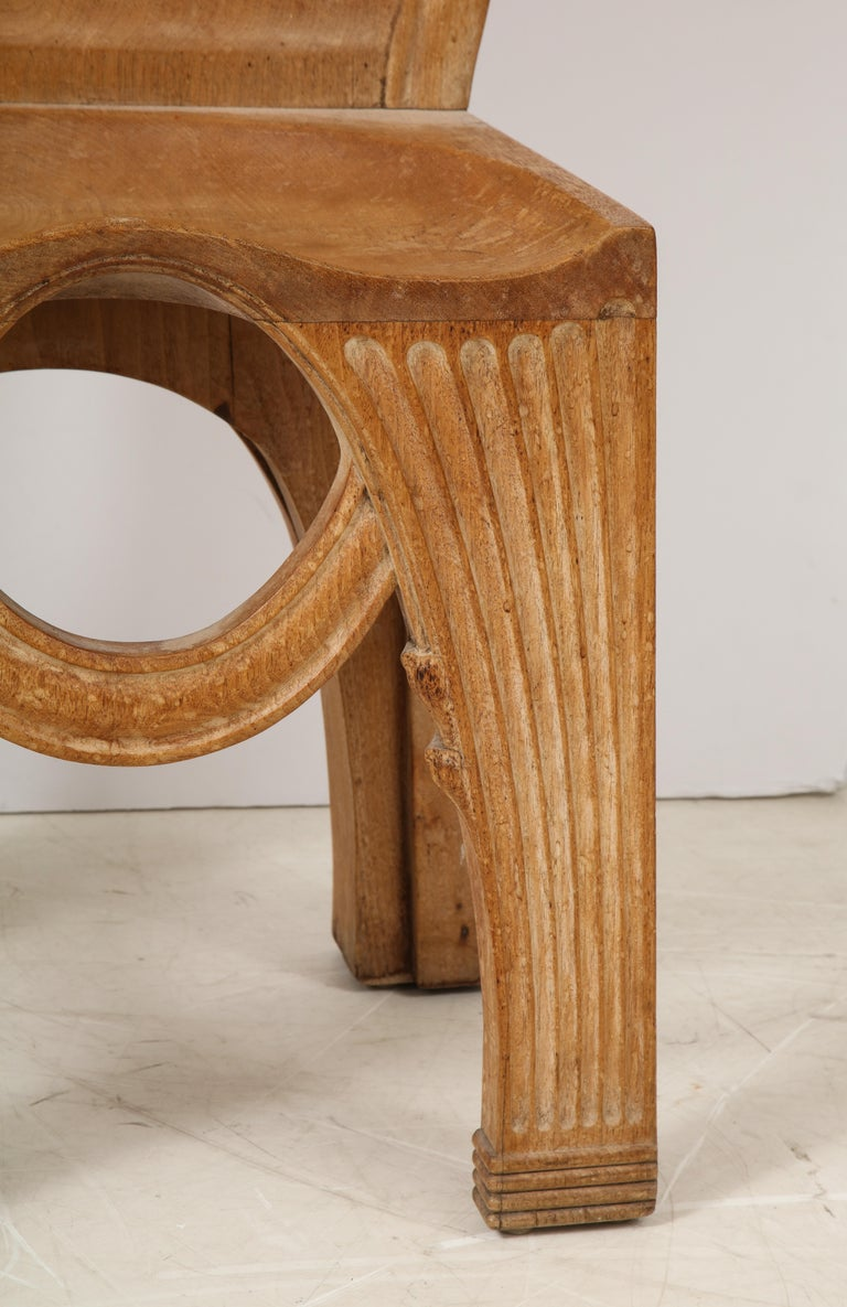 Pair of Wooden Replicas of the Stone Throne from the Minoan Palace at Knossos For Sale 2