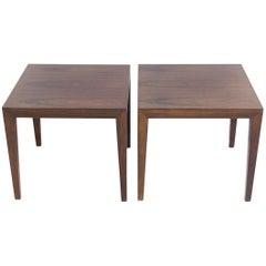 Pair of Wooden Side Tables by Severin Hansen Jr.