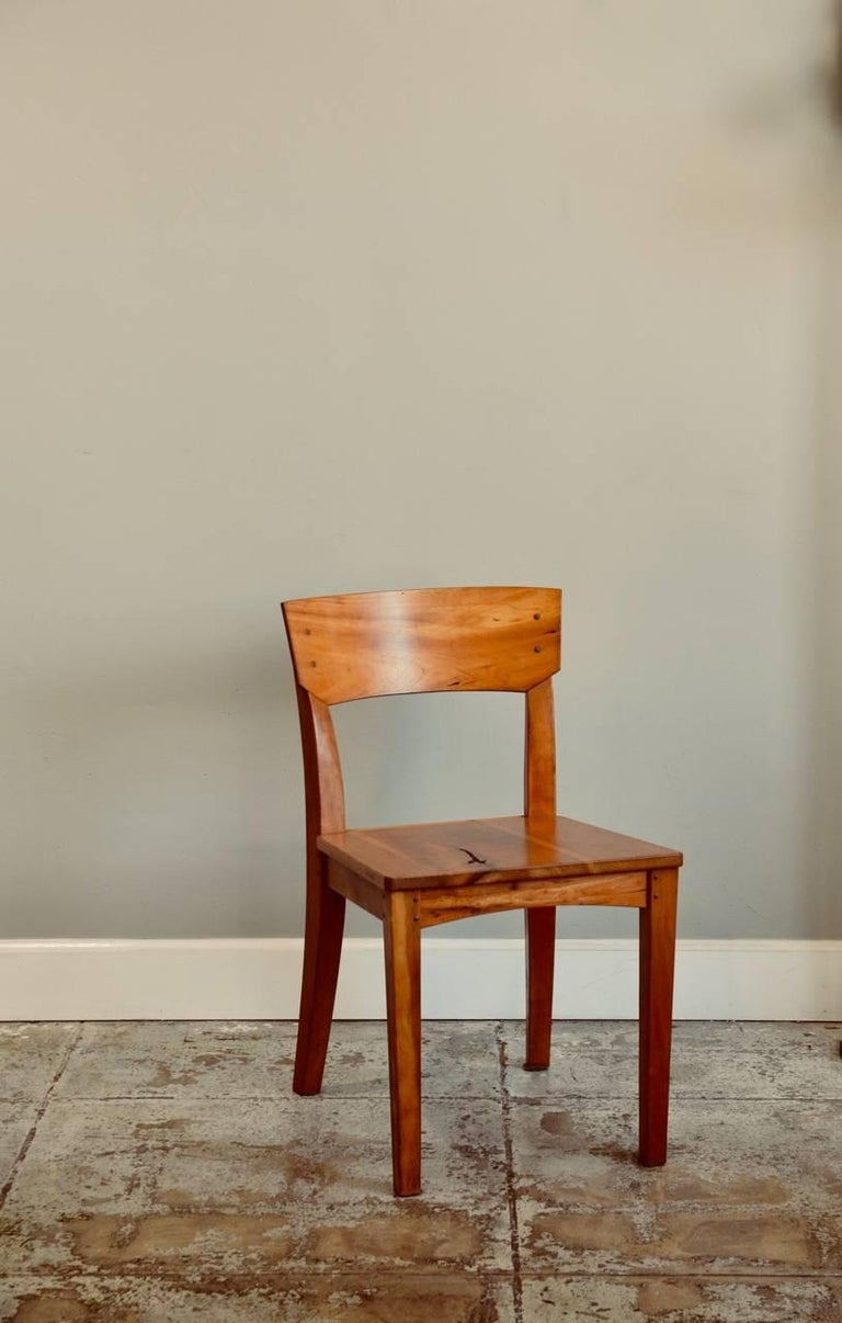 Organic Modern Pair of Woodworker Studio Chairs For Sale