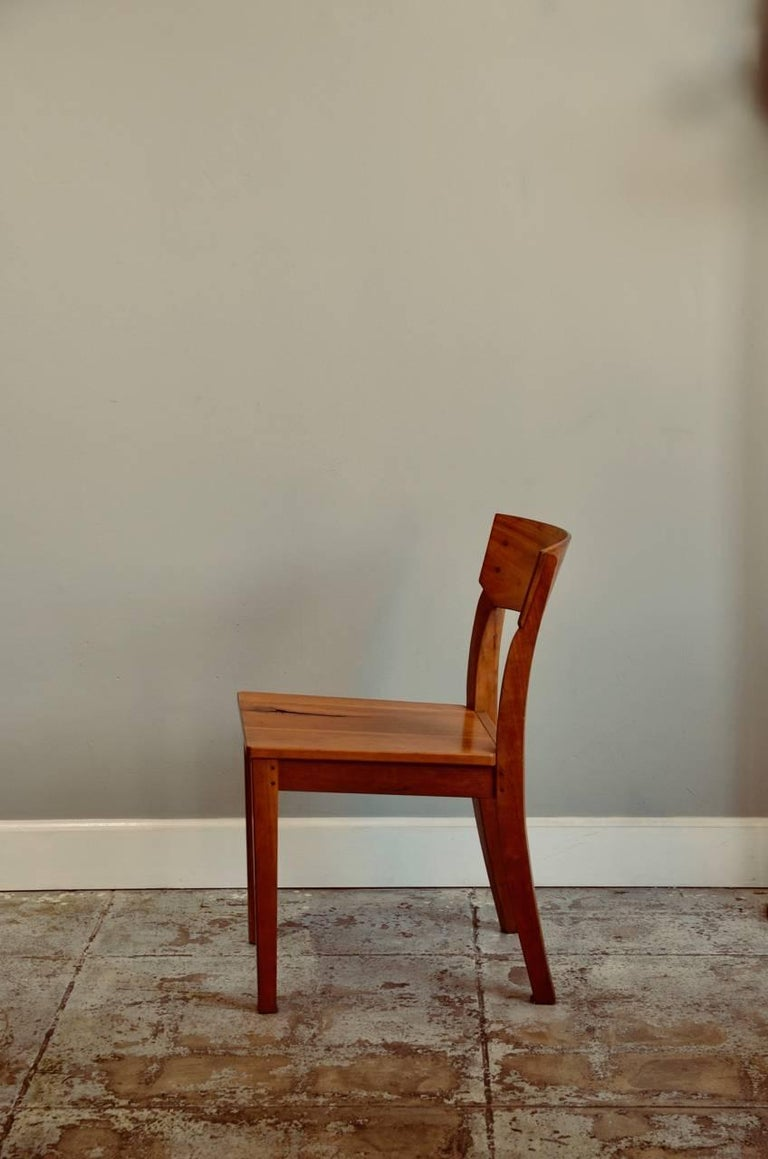 American Pair of Woodworker Studio Chairs For Sale