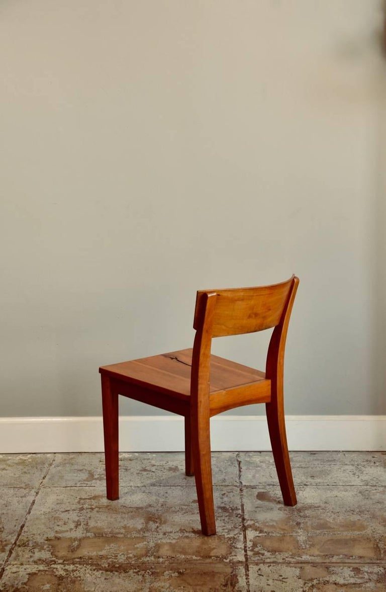 Varnished Pair of Woodworker Studio Chairs For Sale