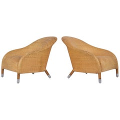 Pair of Woven Leather Chairs