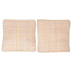 Pair of Woven Reed Pillows