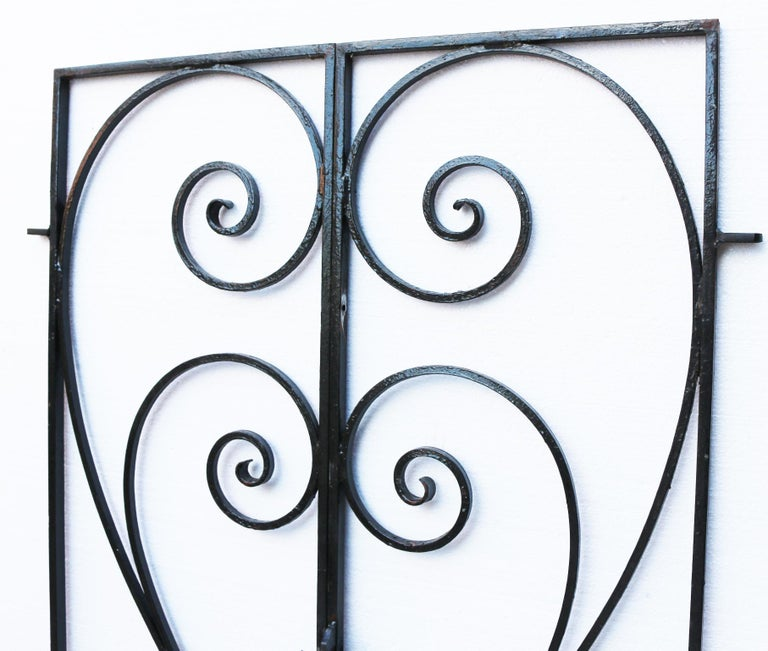 Victorian Pair of Wrought Iron Garden Gates For Sale