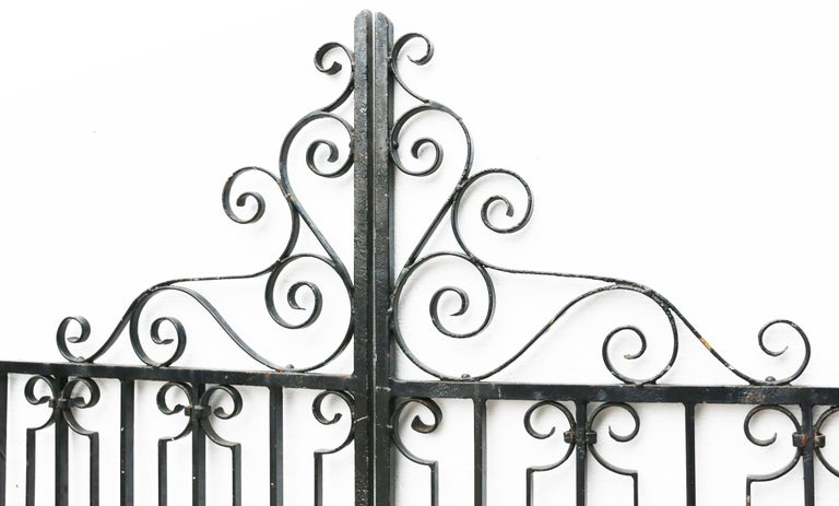Victorian Pair of Wrought Iron Gates For Sale