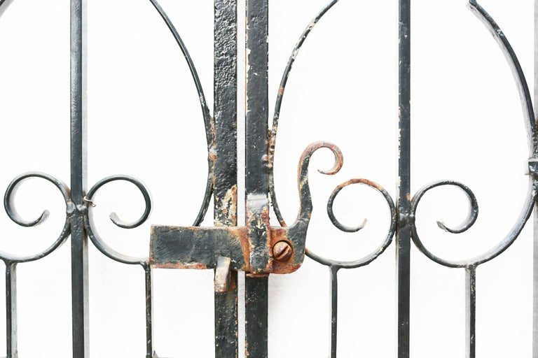 English Pair of Wrought Iron Gates For Sale