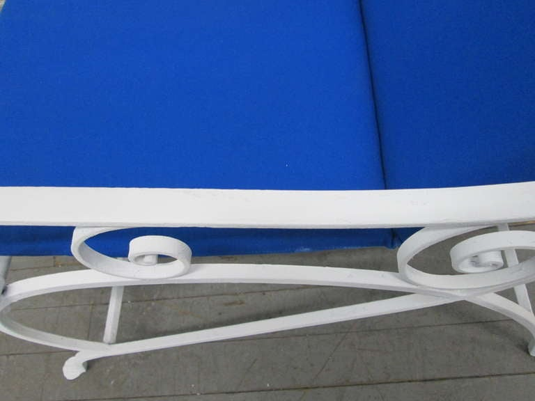 Pair of Wrought Iron Lounge Chairs For Sale 1