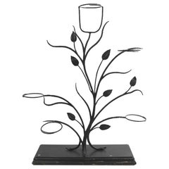 Pair of Wrought Iron Tree Form Plant Stands Attributed to Salterini