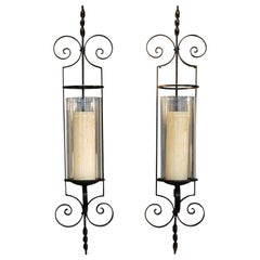 Pair of Wrought Iron Wall Sconces