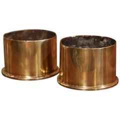 Pair of WW1 British Brass Artillery Shells Dated 1917