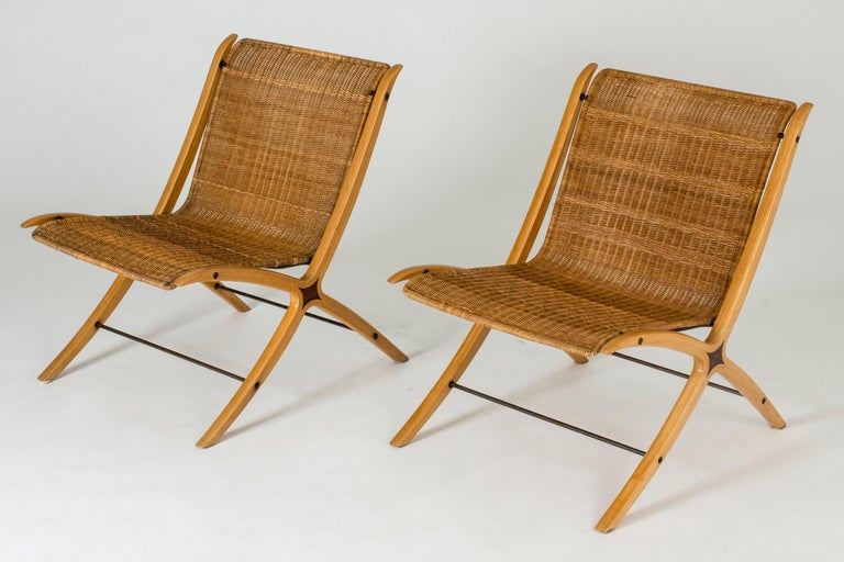 """Mid-20th Century Pair of """"X"""" lounge chairs by Peter Hvidt and Orla Møllgaard For Sale"""