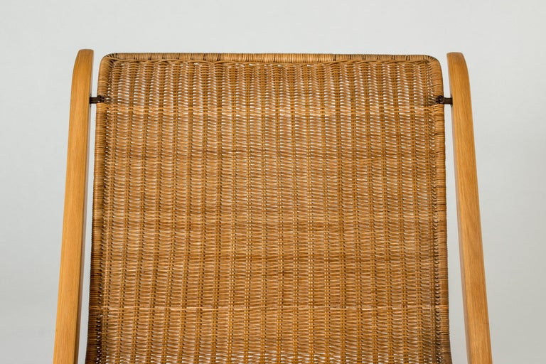 """Rattan Pair of """"X"""" lounge chairs by Peter Hvidt and Orla Møllgaard For Sale"""