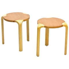"Pair of ""X600″ Stools by Alvar Aalto"