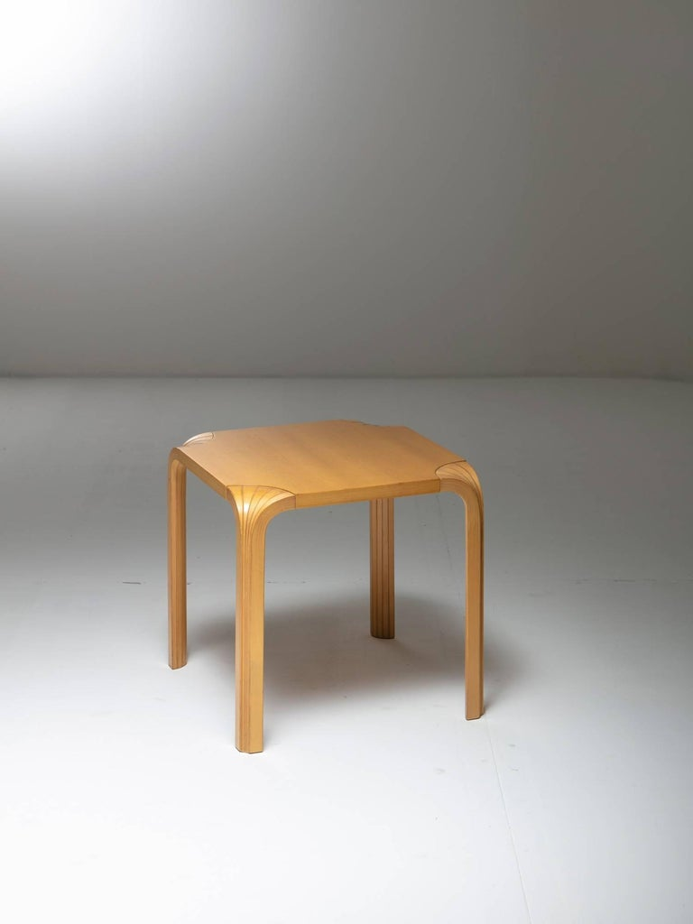 Set of two birch stools or side tables model X602 by Alvar Aalto for Artek.