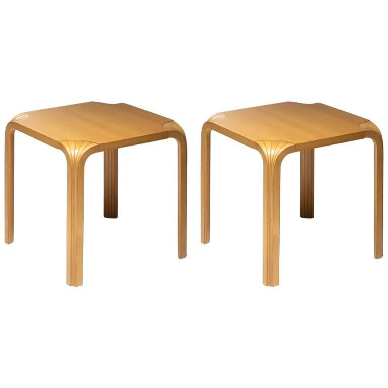 Pair of X602 Stools by Alvar Aalto for Artek For Sale