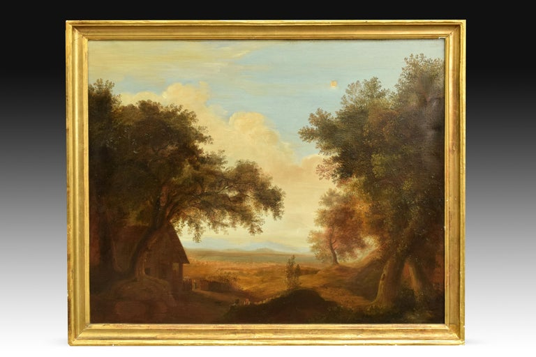 Other Pair of Xalapa Landscapes, Mexico, Oil on Canvas, Spanish School, circa 1840 For Sale