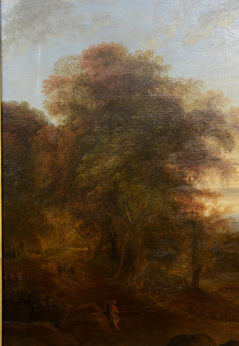 Mexican Pair of Xalapa Landscapes, Mexico, Oil on Canvas, Spanish School, circa 1840 For Sale