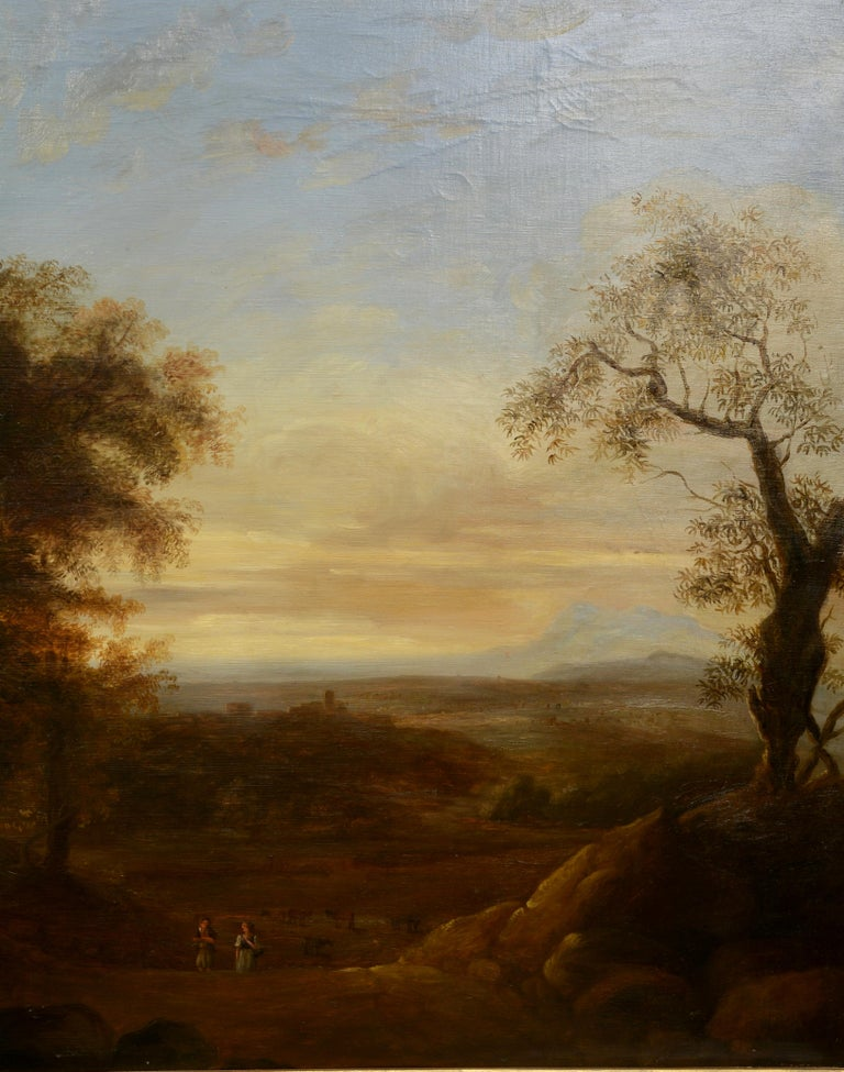 Hand-Painted Pair of Xalapa Landscapes, Mexico, Oil on Canvas, Spanish School, circa 1840 For Sale
