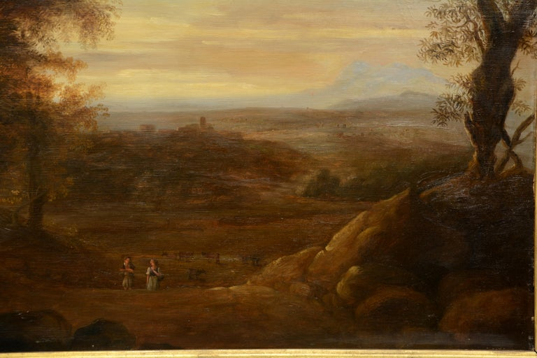 Pair of Xalapa Landscapes, Mexico, Oil on Canvas, Spanish School, circa 1840 In Good Condition For Sale In Madrid, ES