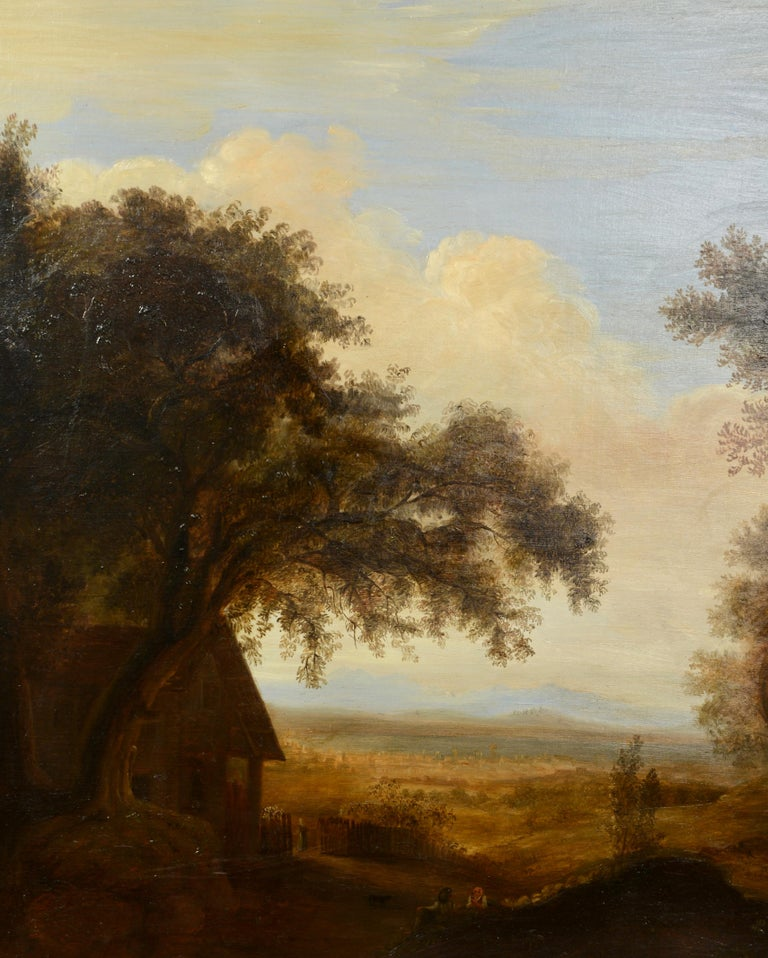 Mid-19th Century Pair of Xalapa Landscapes, Mexico, Oil on Canvas, Spanish School, circa 1840 For Sale