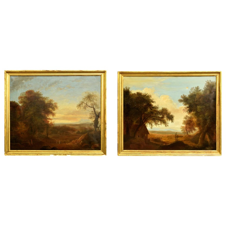 Pair of Xalapa Landscapes, Mexico, Oil on Canvas, Spanish School, circa 1840 For Sale