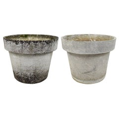 Pair of Extra Large Planters in the Shape of Flower Pots, Willy Guhl for Eternit