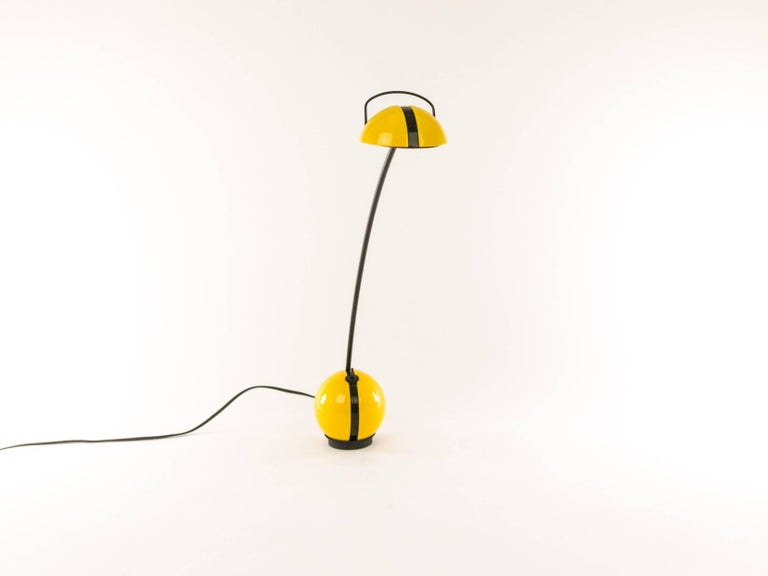 Pair of Yellow Alina Table Lamps by Valenti, 1970s For Sale 1