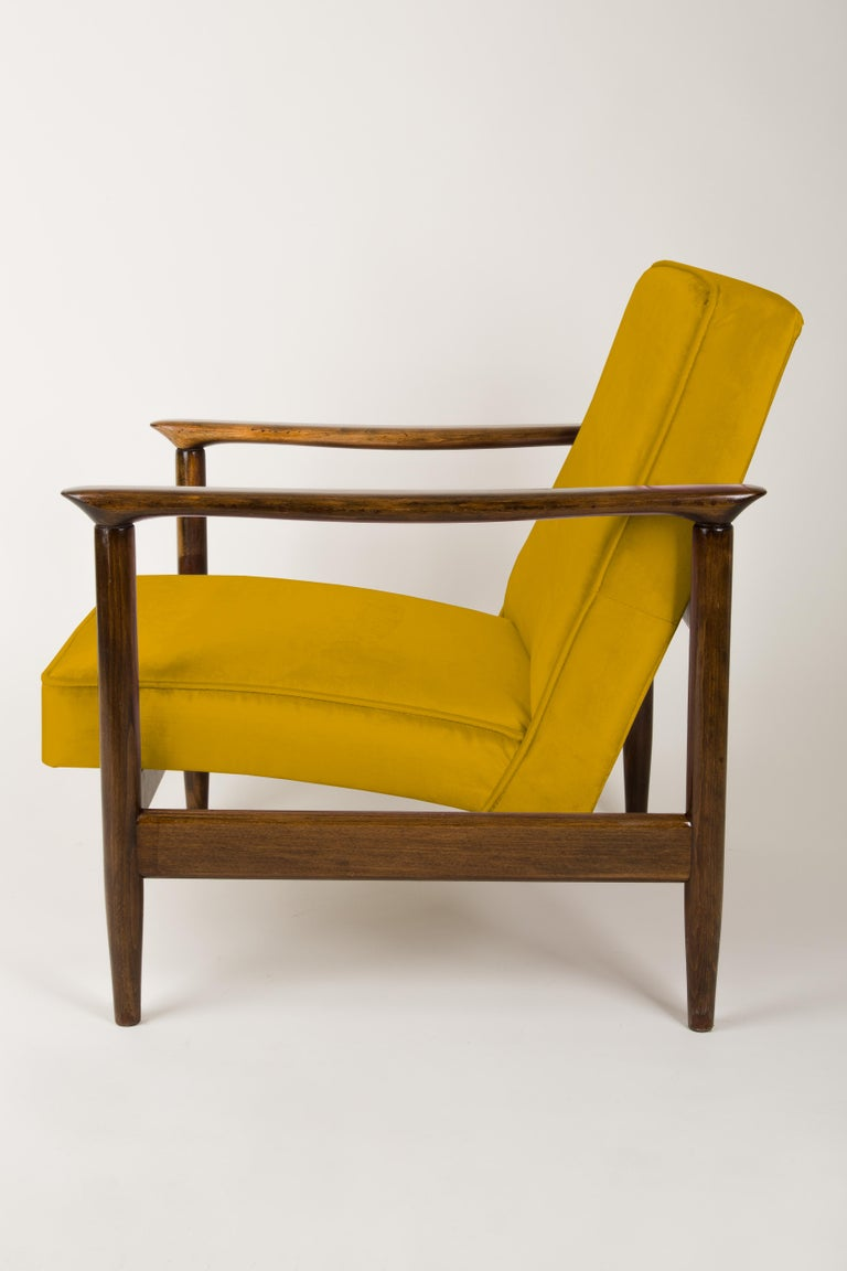 20th Century Pair of Yellow Armchairs, Edmund Homa, GFM-142, 1960s, Poland For Sale