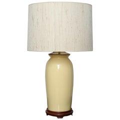 Pair of Yellow Ginger Jar Lamps