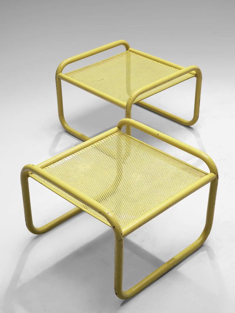 Pair of Yellow 'Locus Solus' Stools by Gae Aulenti For Sale 1