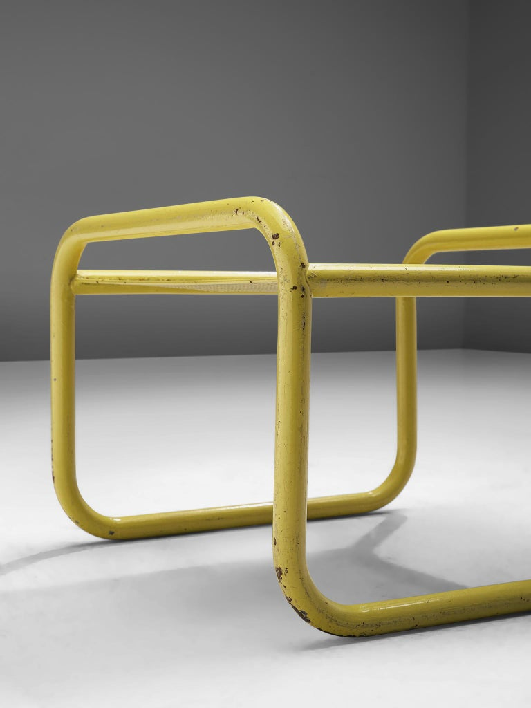 Mid-20th Century Pair of Yellow 'Locus Solus' Stools by Gae Aulenti For Sale
