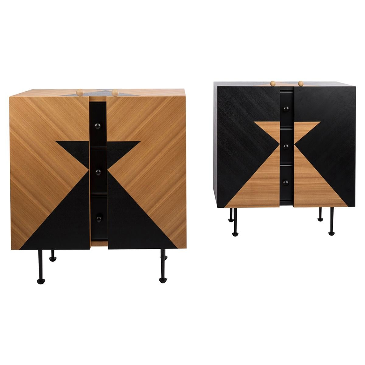 Pair of Yin-Yang Chest Drawers Designed by Thomas Dariel