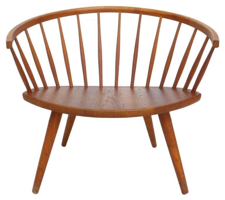 Swedish Pair of Yngve Ekström 'Arka' Lounge Chairs For Sale