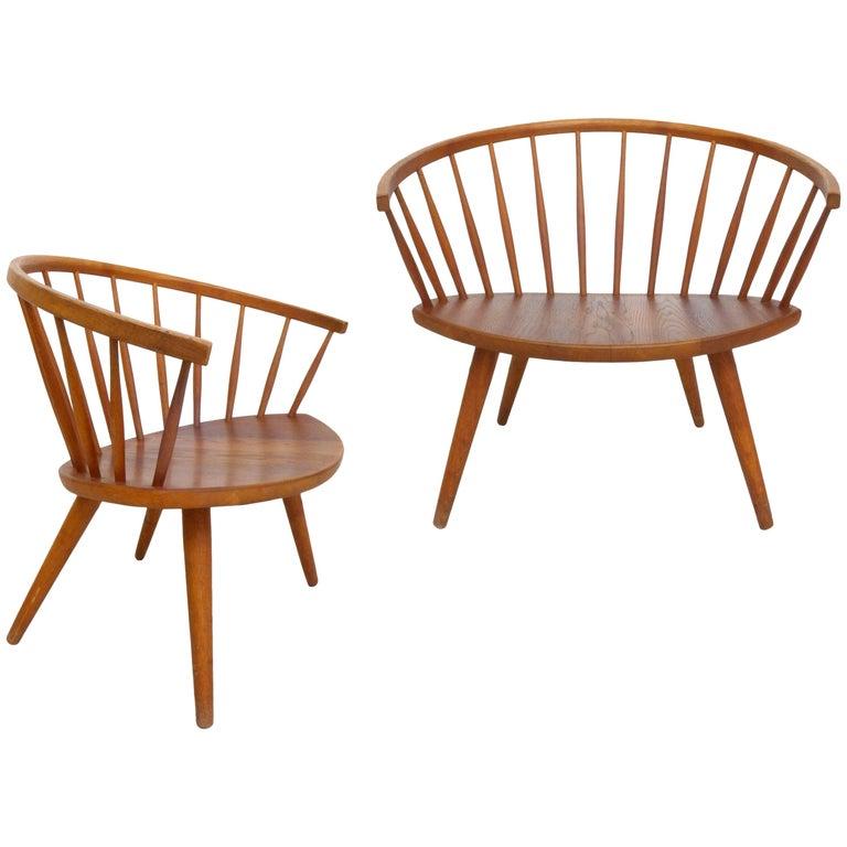 Pair of Yngve Ekström 'Arka' Lounge Chairs For Sale