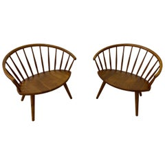 "Pair of Yngve Ekstrom ""Arka"" Lounge Chairs"