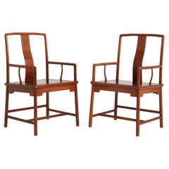 Pair of Yokeback Armchairs in the Ming Style