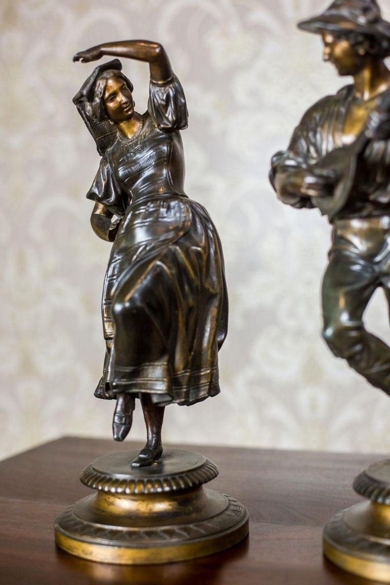 Pair of Zamak Figurines from the 1930s For Sale 3
