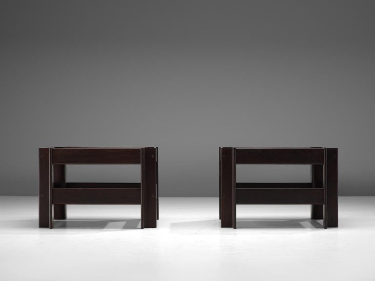 Mid-Century Modern Pair of 'Zelda' Wooden Coffee Tables by Sergio Asti For Sale