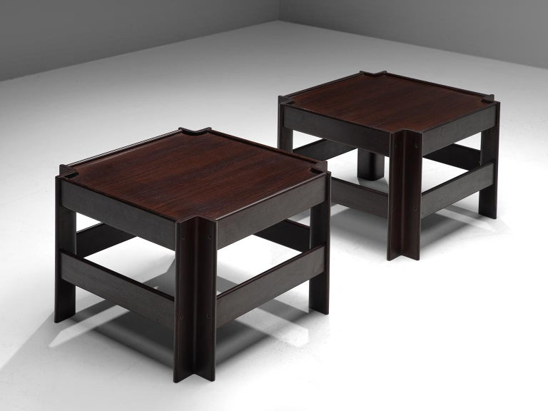 Italian Pair of 'Zelda' Wooden Coffee Tables by Sergio Asti For Sale