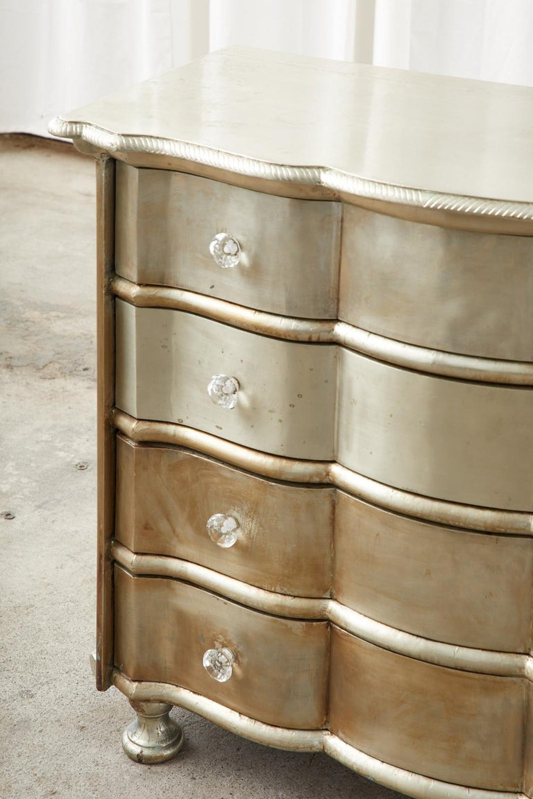 Pair of Zinc Metal Wrapped Commode Chests or Dressers For Sale 6