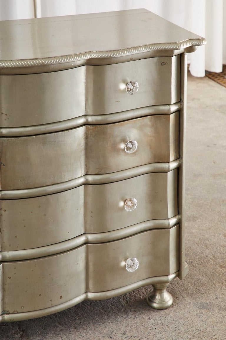 Pair of Zinc Metal Wrapped Commode Chests or Dressers For Sale 7