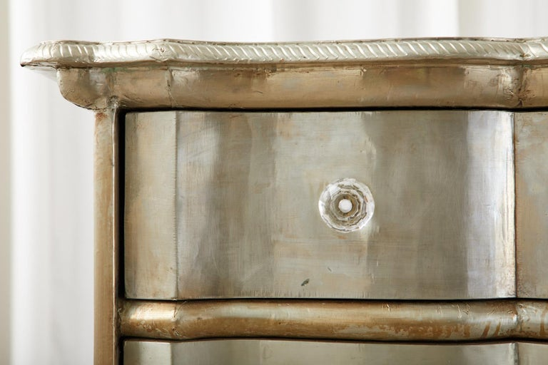 Pair of Zinc Metal Wrapped Commode Chests or Dressers For Sale 8