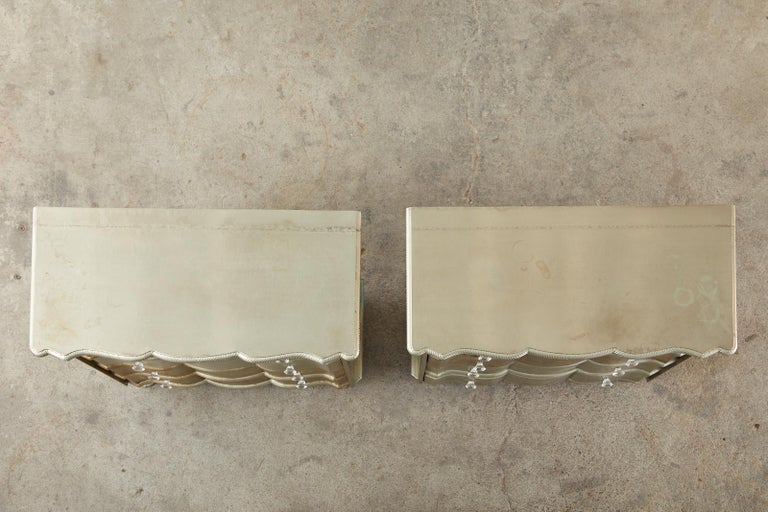 20th Century Pair of Zinc Metal Wrapped Commode Chests or Dressers For Sale